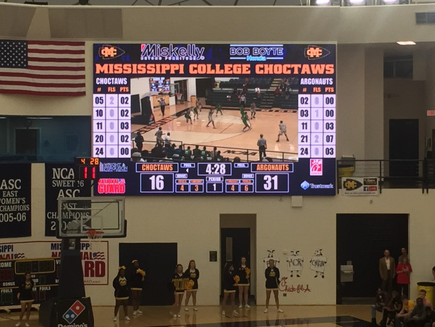 Indoor Scoreboard Mississippi College