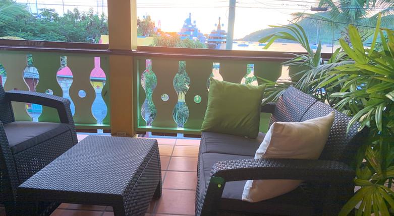 Sitting Area on Shared Balcony