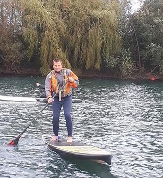 Phil crist River guide volunteer Paddleboard Maidenhead