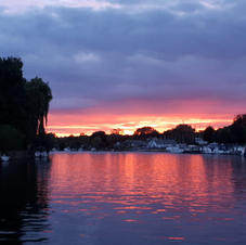 Paddle at sunset Cookham to Bourne End
