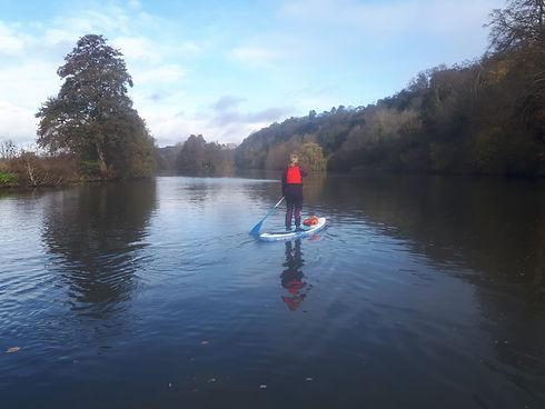 Paddle boarding to Cookham