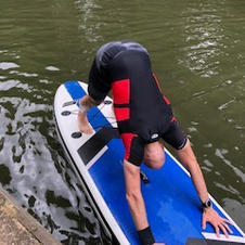 Good stretch after a long paddle