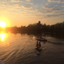 Paddle boarding Sunset Bourne End