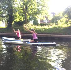 Kneeling down Paddle boarding