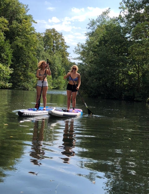 Paddleboarding to Bourne End