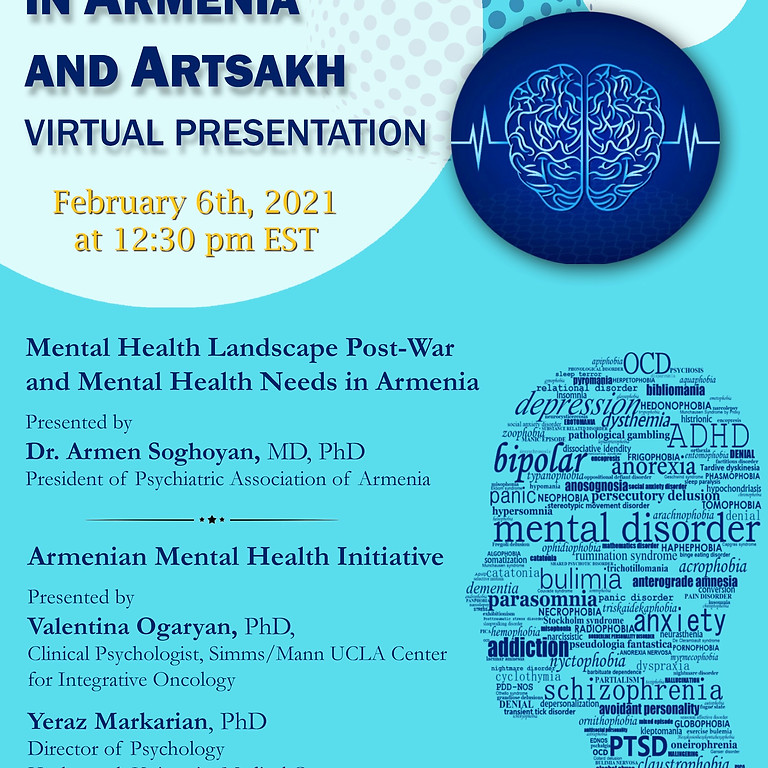 Mental Health in Armenia and Artsakh: Virtual Presentation