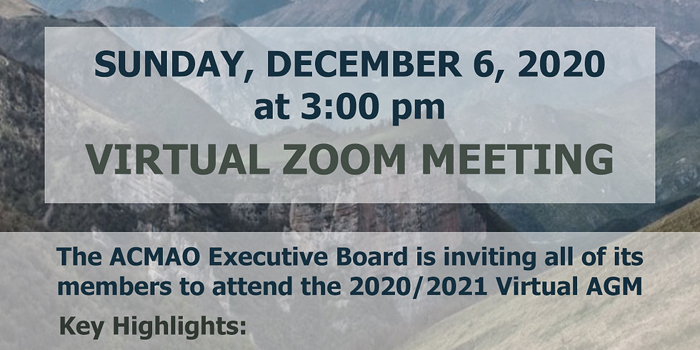 ACMAO ANNUAL GENERAL MEETING 2020/2021