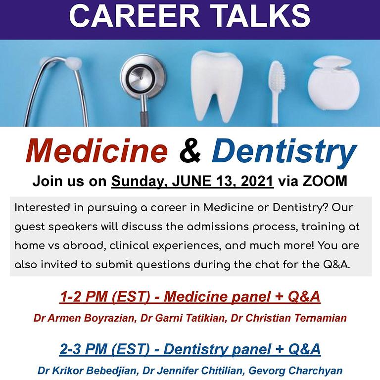 Career Talks: Medicine and Dentistry