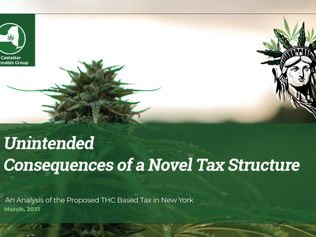 THC Tax? The Unintended Consequences of a Novel Tax Structure