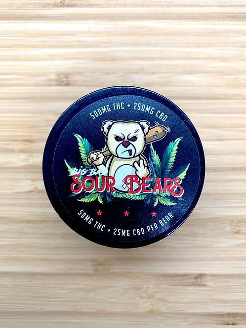 Big Bad Sour Bears - 500mg THC / 250mg CBD