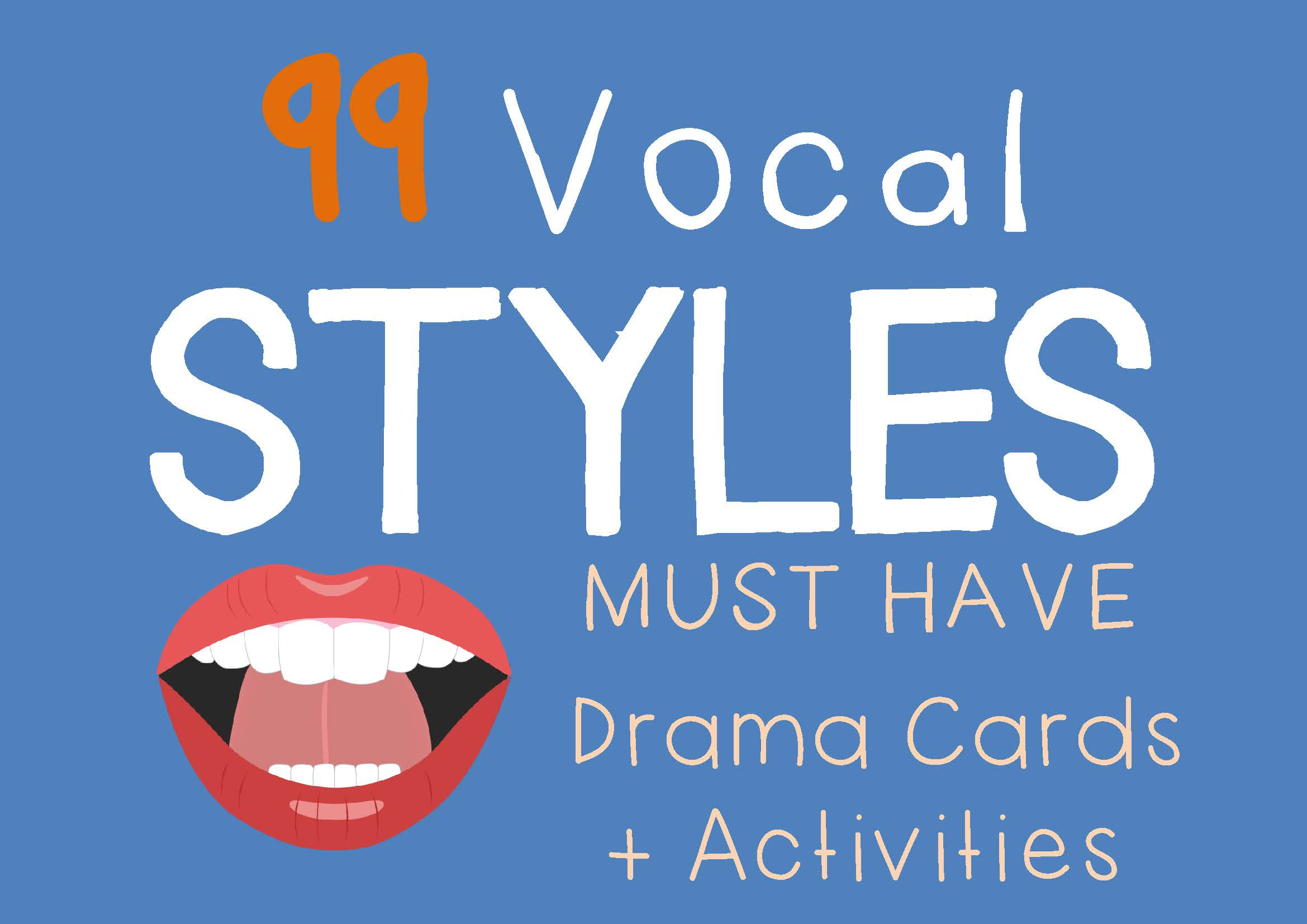 Drama Trunk VOCAL STYLES Drama Cards and Activities cover