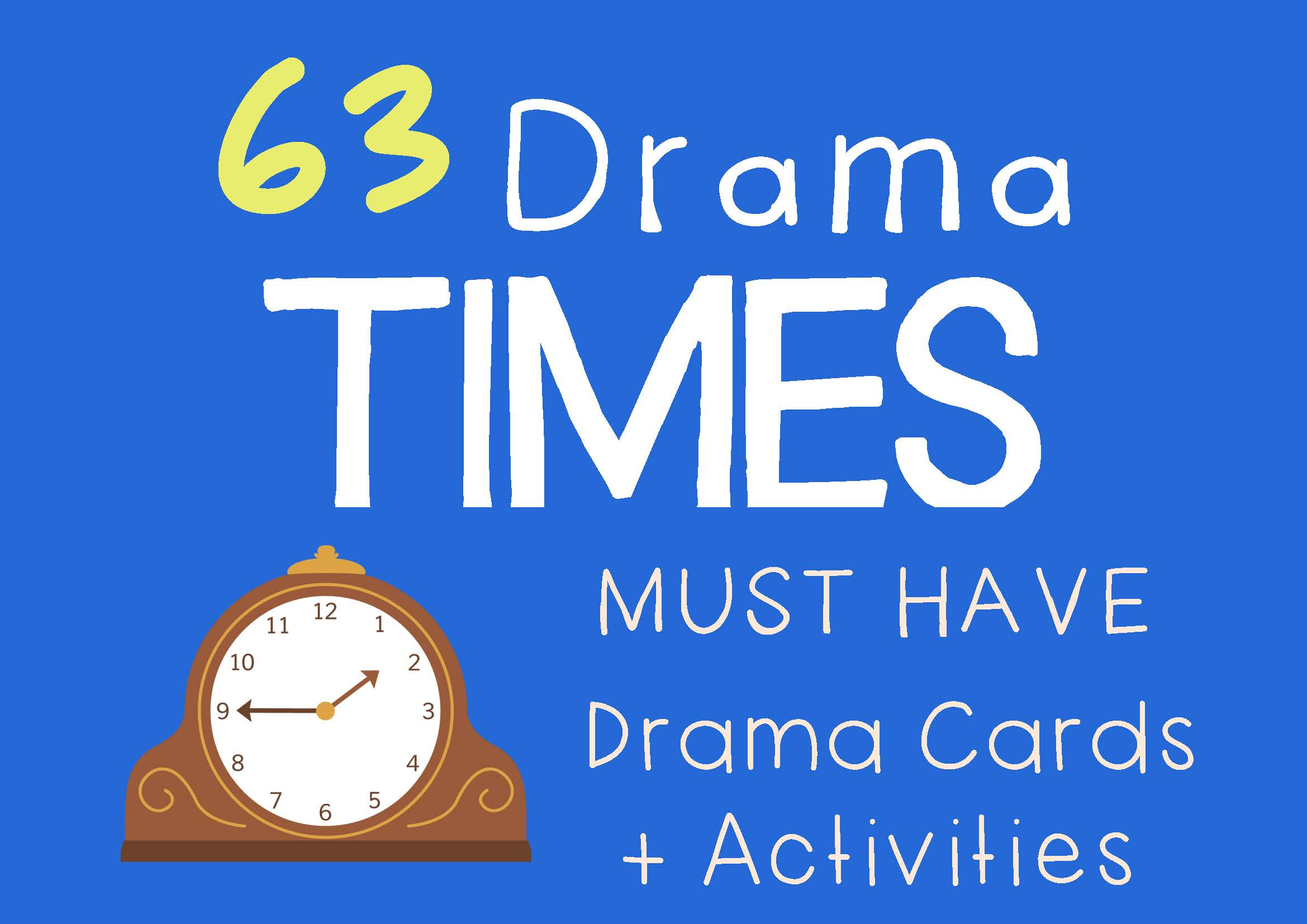Drama Trunk TIMES Drama Cards and Drama Activities