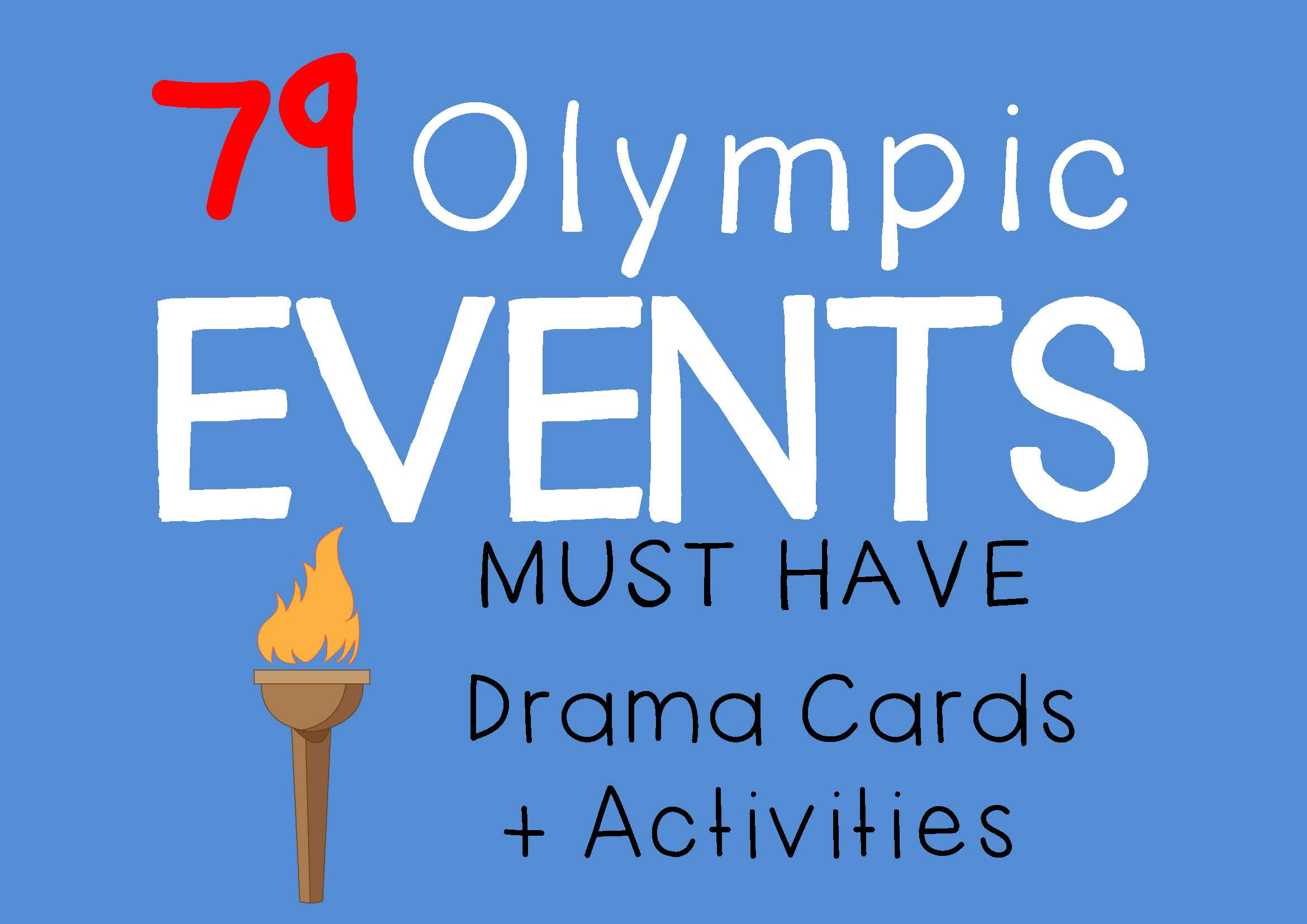 OLYMPIC EVENTS Drama Cards and Olympics Drama Activities by DRAMA TRUNK