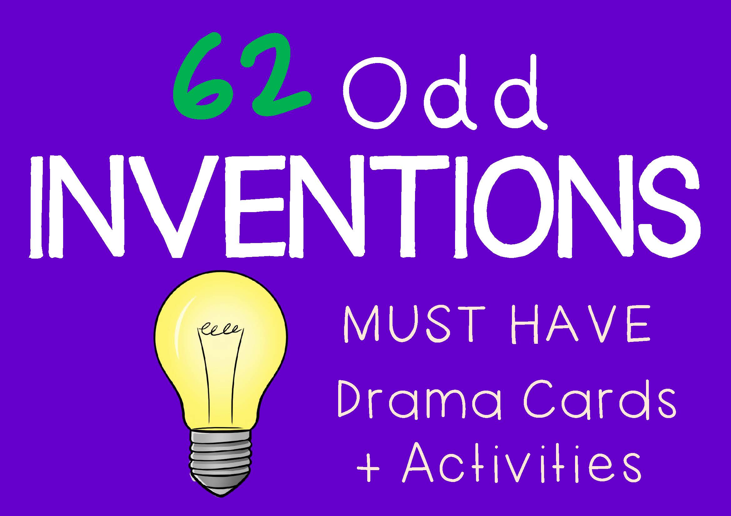 ODD INVENTIONS Drama Cards and Drama Activities by DRAMA TRUNK