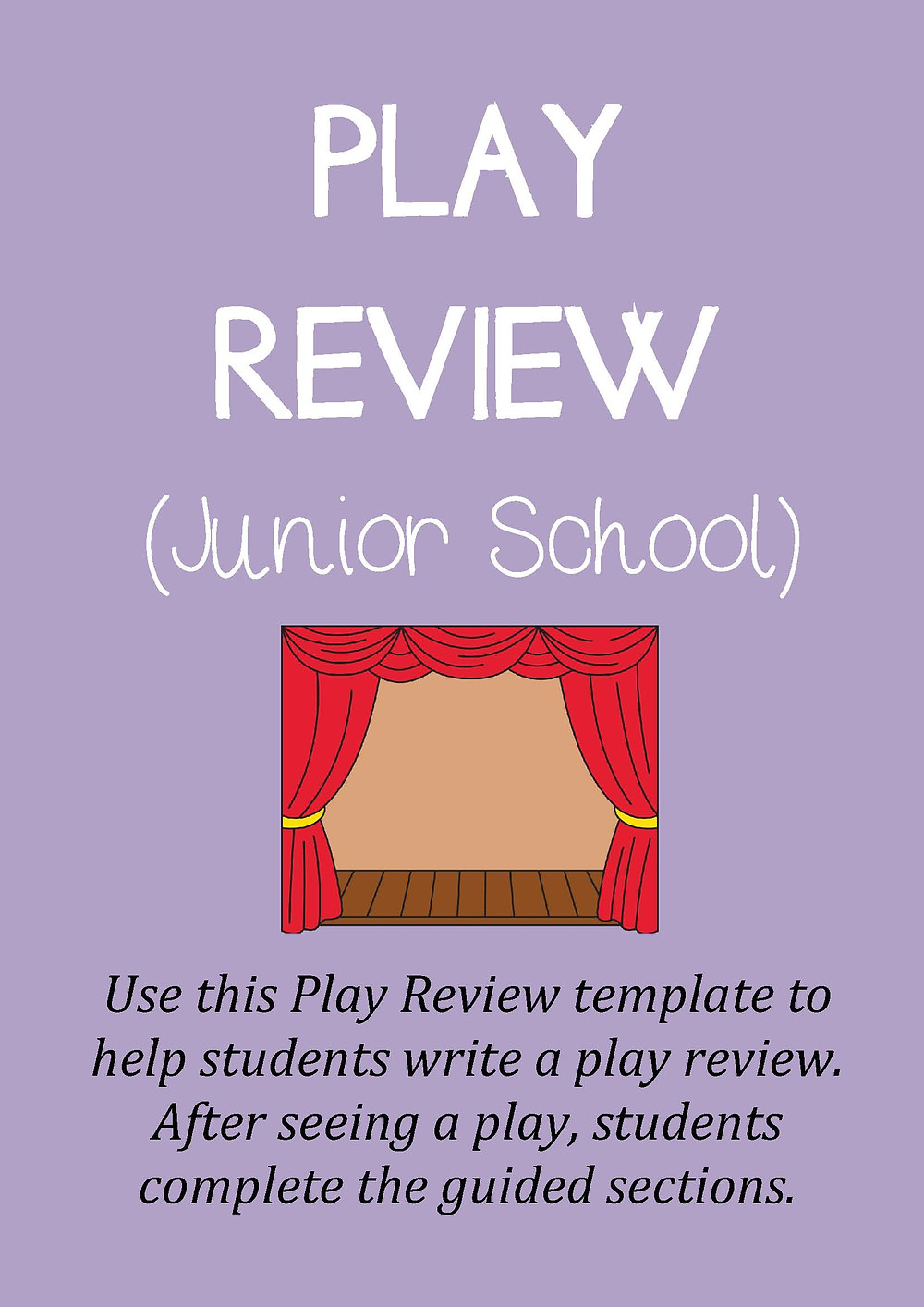 Theatre Review Template