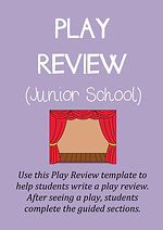 Theatre / Theater Review Template