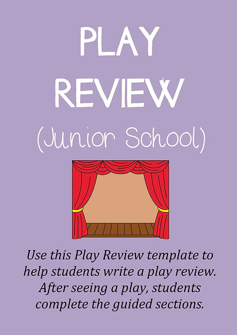 PLAY REVIEW TEMPLATE (Junior)