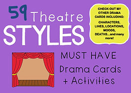 Drama Cards and Activities : FREE THEATRE STYLES CARDS