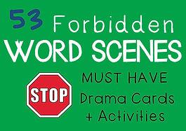 Drama Cards and Activities : Forbidden Word Scenes