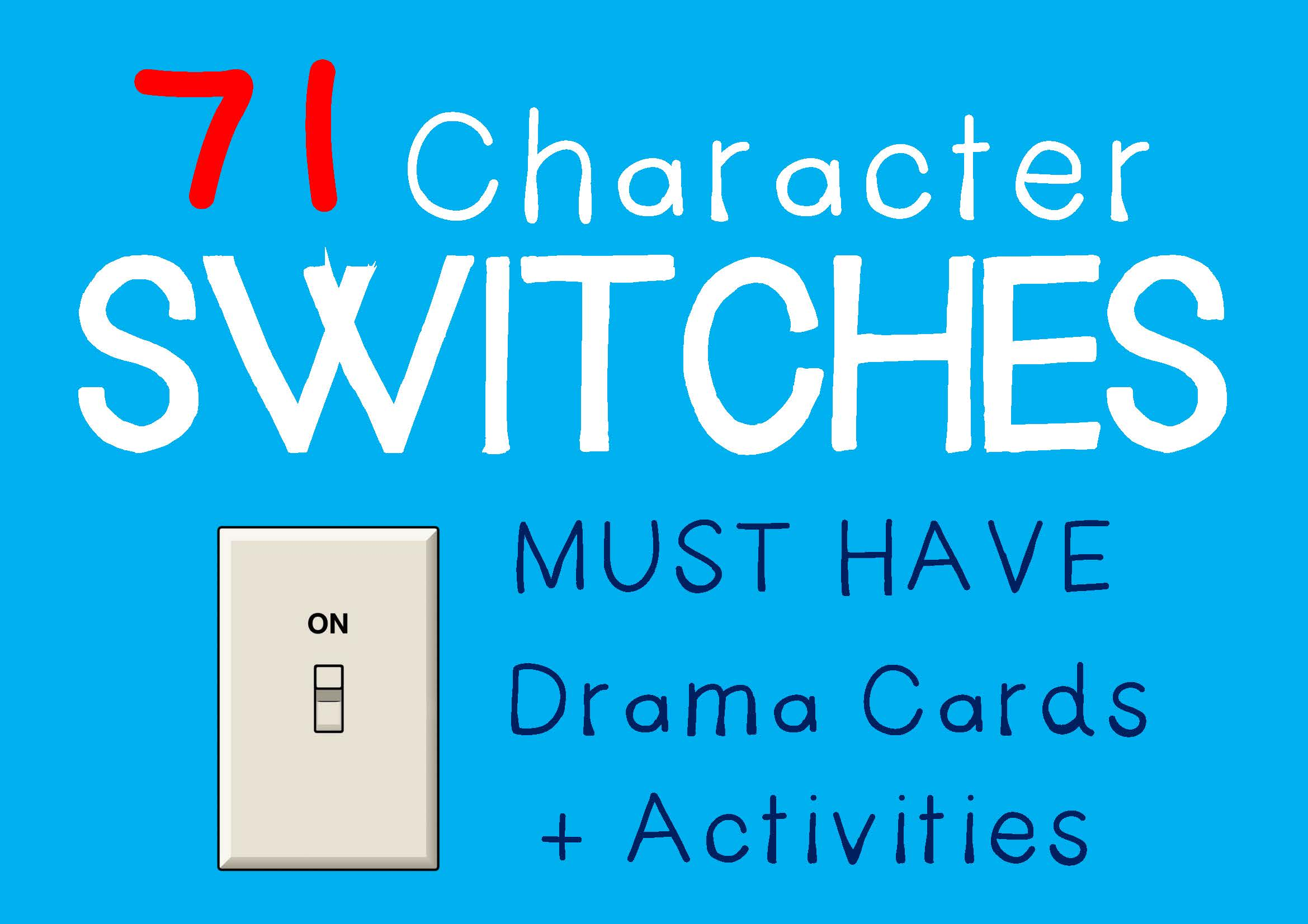 Drama Trunk CHARACTER SWITCH Drama Cards and Activities
