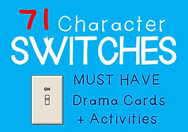 Drama Cards and Activities : Character Switch Cards