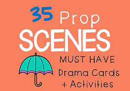 Prop Scenes : Drama Cards with Scenarios for prop scenes