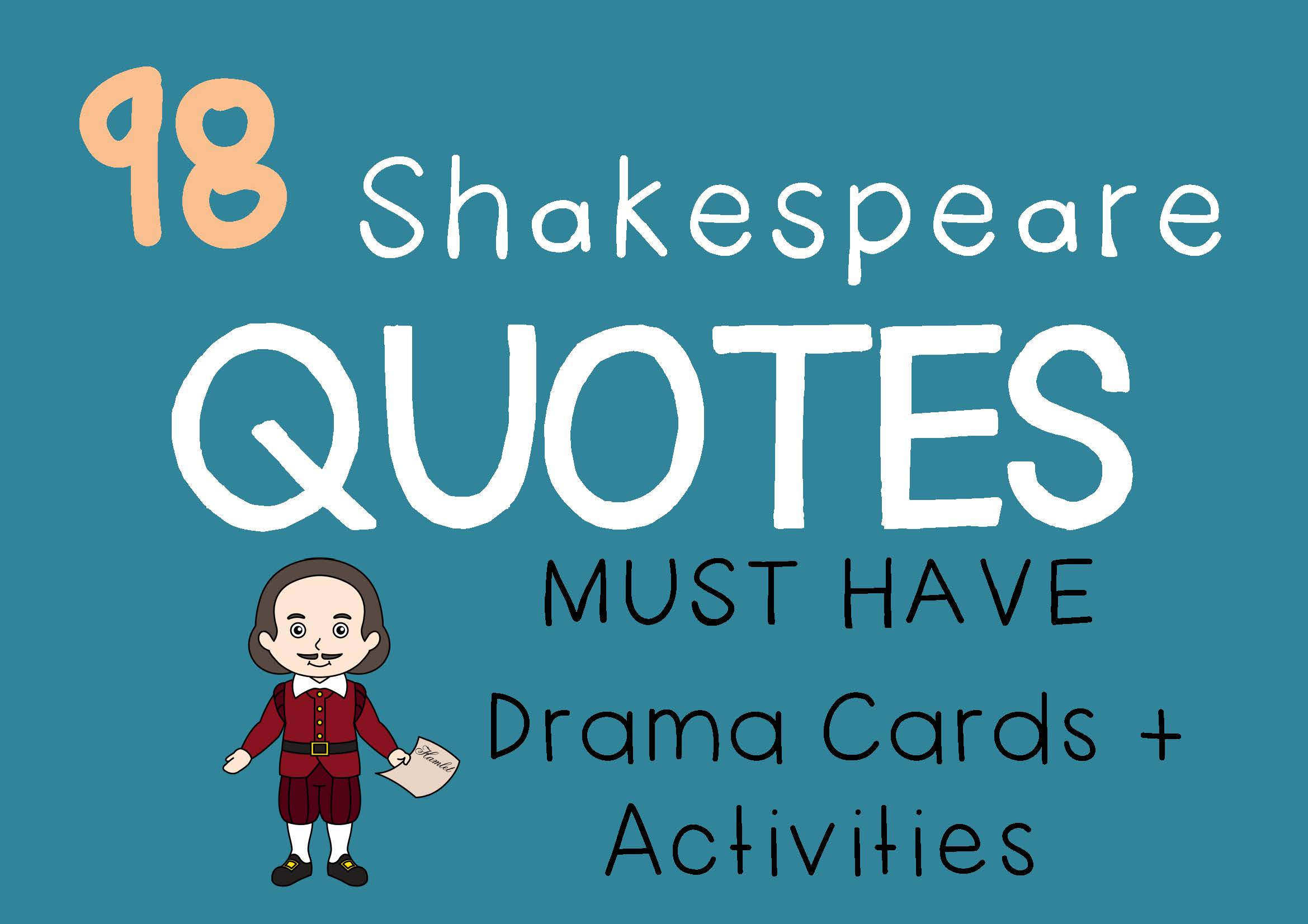SHAKESPEARE QUOTES Drama Cards and Drama Activities by DRAMA TRUNK