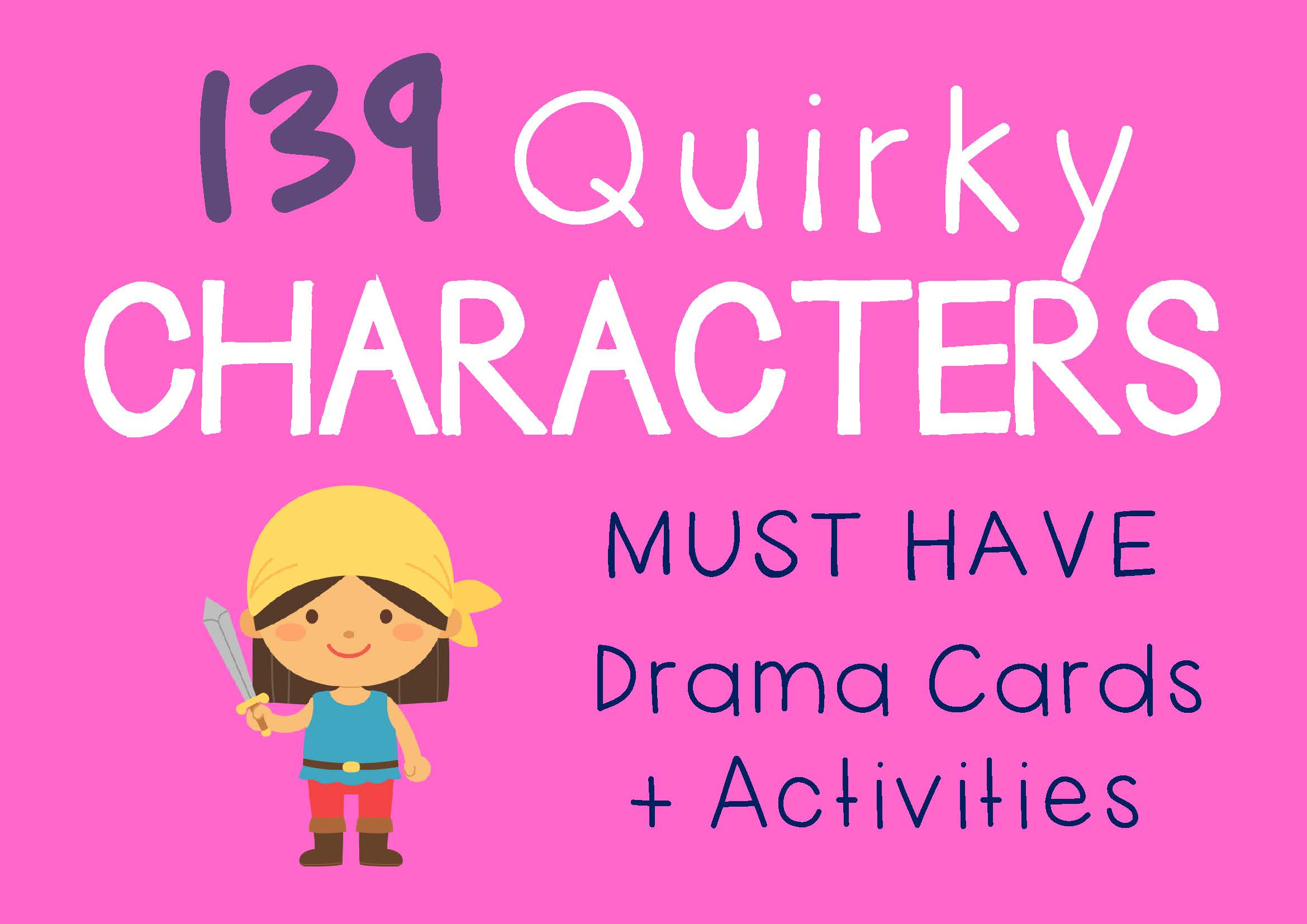 Drama Trunk QUIRKY CHARACTERS Drama Cards and Activities