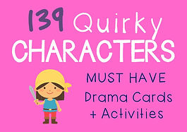 Drama Cards and Activities Quirky Characters