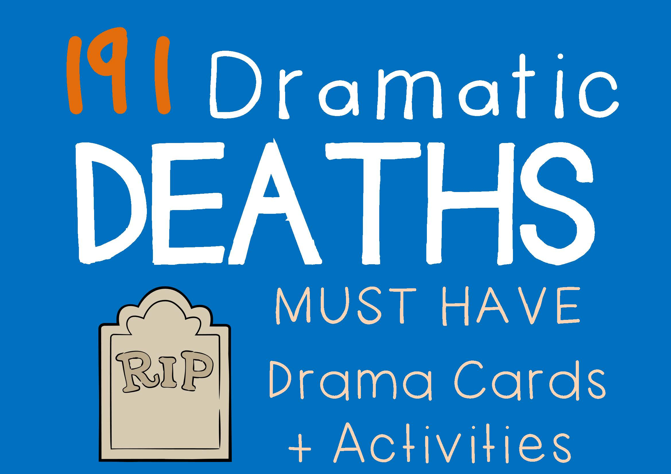 Drama Trunk DRAMATIC DEATHS Drama Cards and Activities