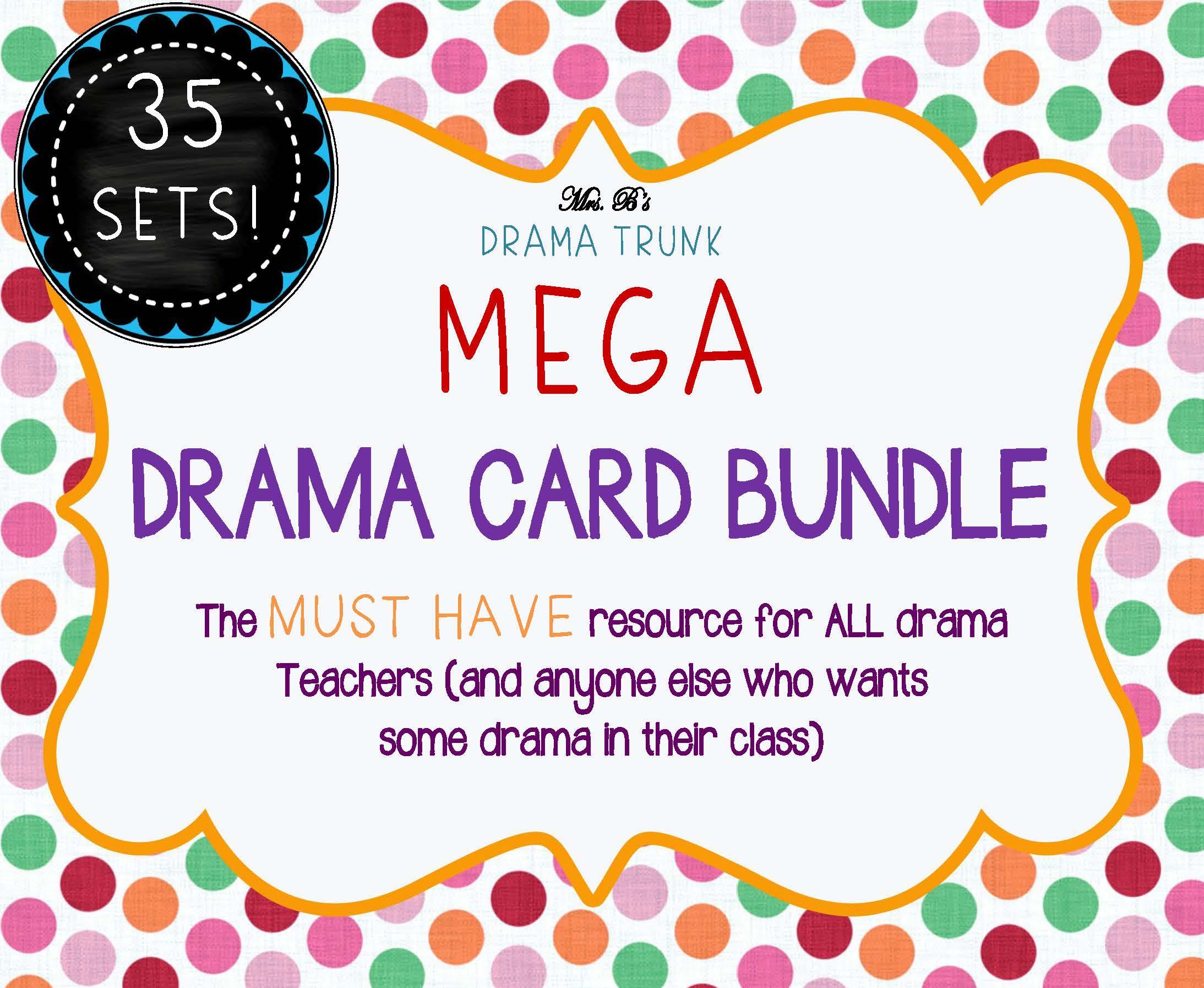 MEGA DRAMA CARD BUNDLE with Drama Activities by DRAMA TRUNK