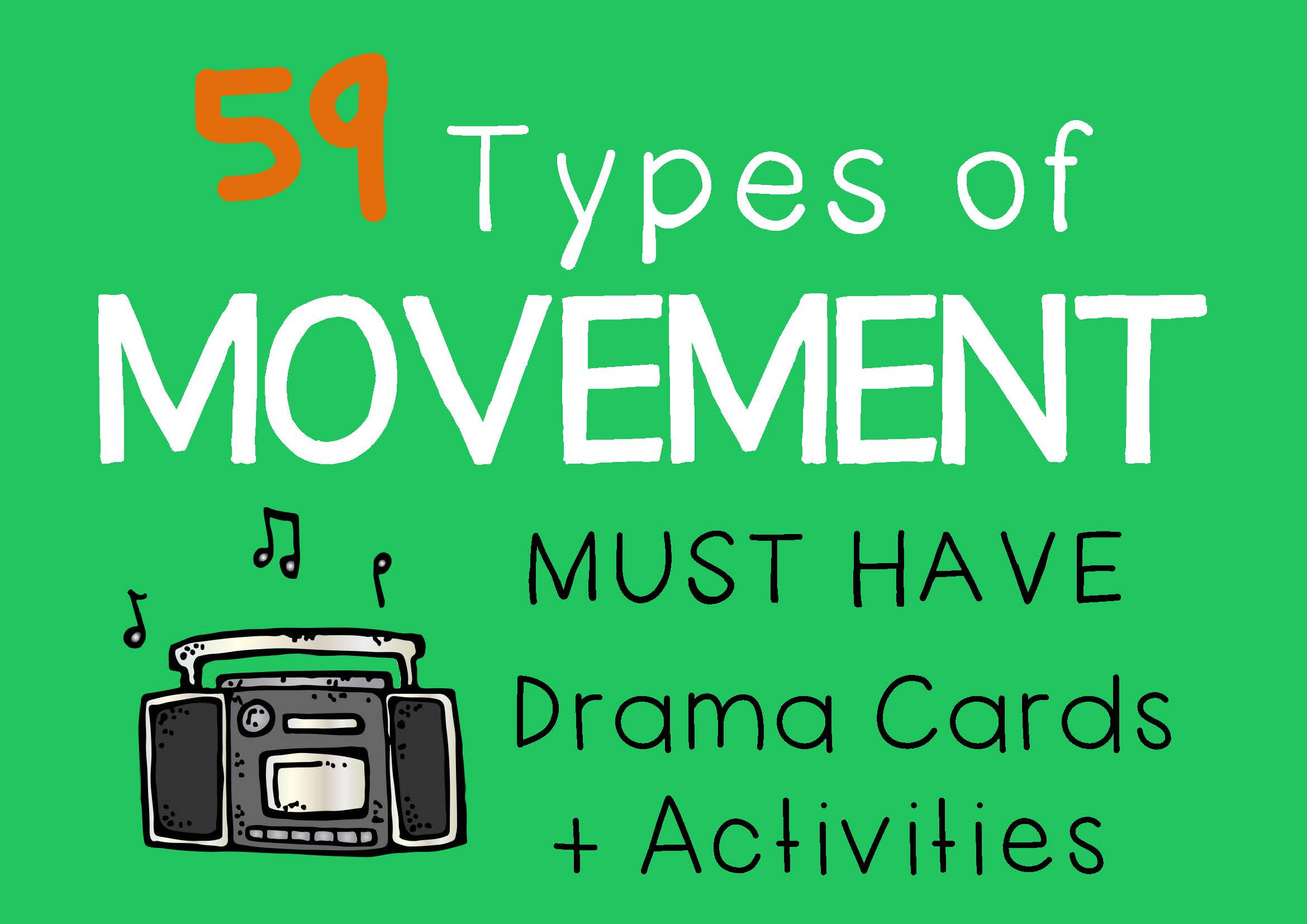 Drama Trunk MOVEMENT Drama Cards and Activities