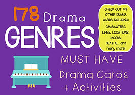 Drama Cards and Activities : FREE GENRE CARDS