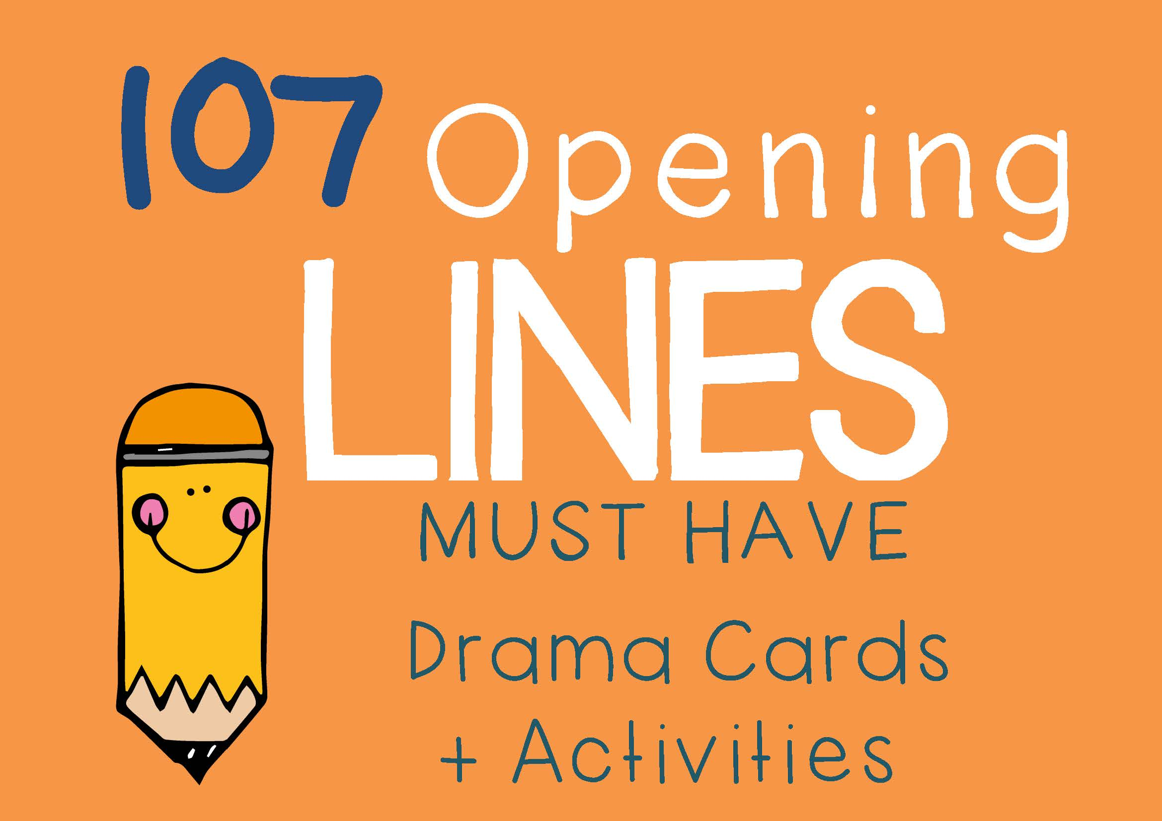 Drama Trunk OPENING LINES Drama Cards and Activities