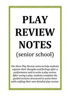 DRAMA TRUNK Drama Resources | Play Review (Senior)
