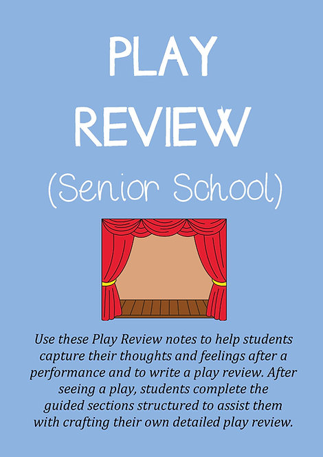 PLAY REVIEW TEMPLATE (Senior)