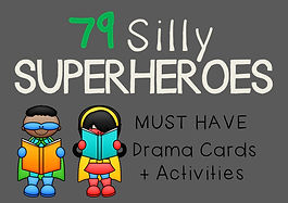 Drama Cards and Activities : Silly Superheroes