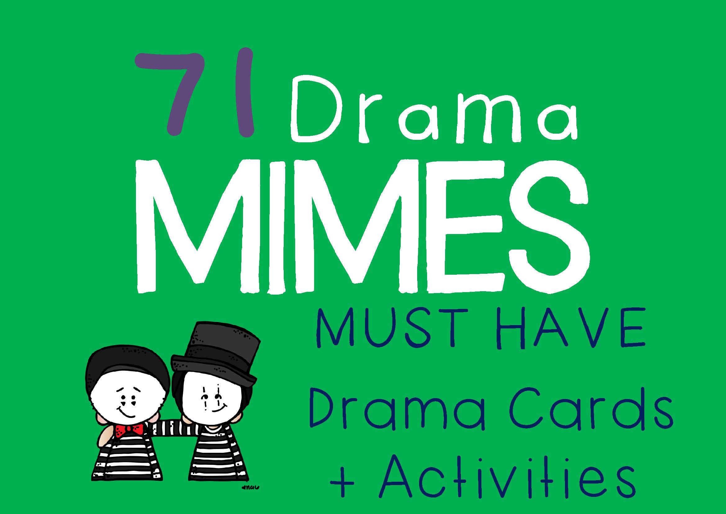 Drama Trunk MIME Drama Cards and Activities