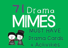 Drama Cards and Activities : Mime