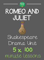 Romeo and Juliet Shakespeare Drama Unit for High School