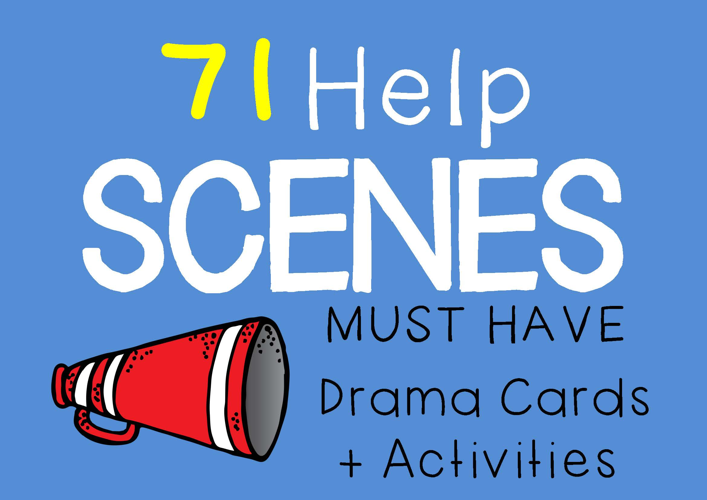 HELP SCENES Drama Cards and Activities by DRAMA TRUNK