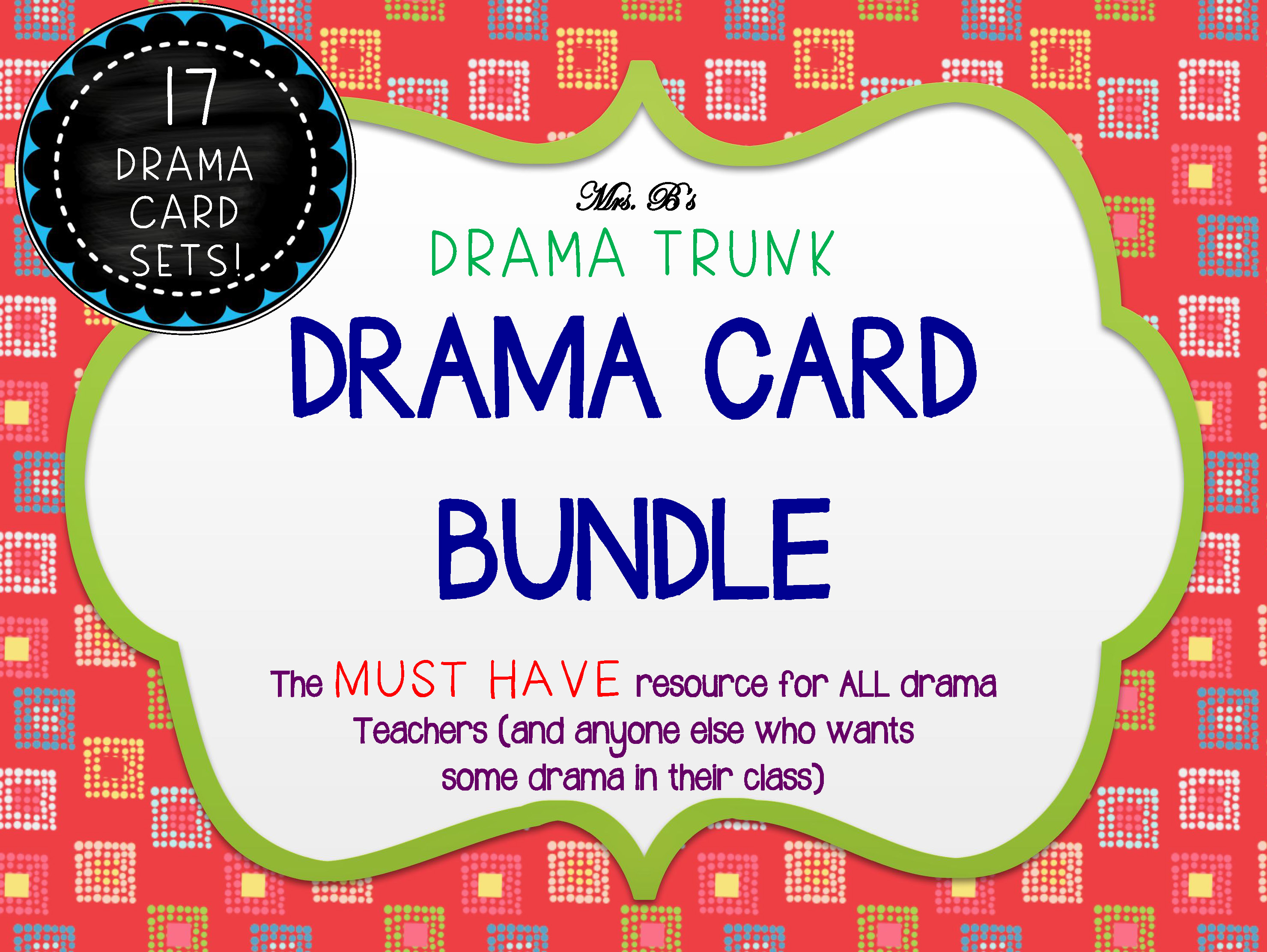 Drama Card Bundle and Drama Activities by DRAMA TRUNK