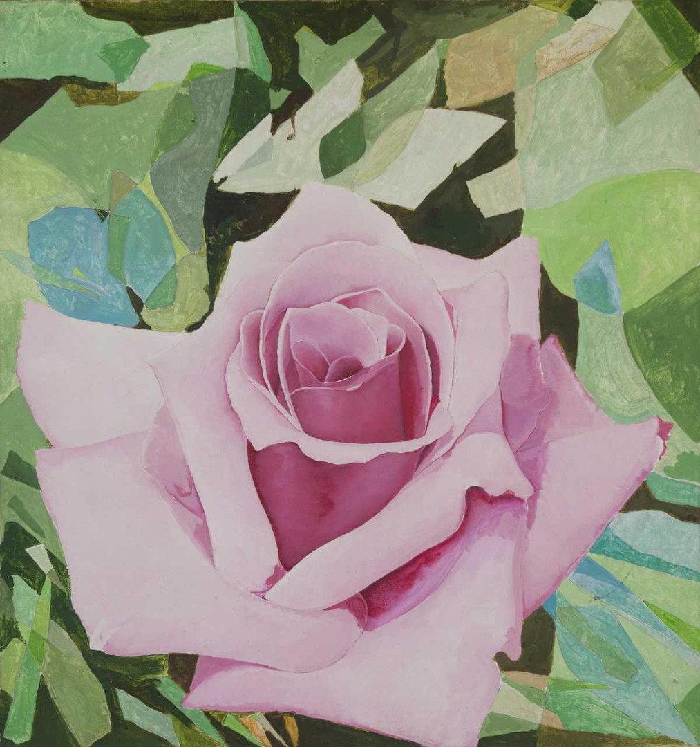 'Untitled (Pink Rose with Foliage),' Roberto Obregón, 1974