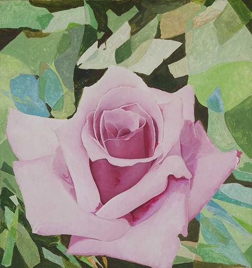 'Untitled (Pink Rose with Foliage)'
