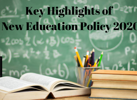 Key Highlights of New Education Policy, 2020