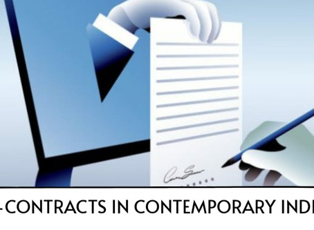 E-Contracts in Contemporary India