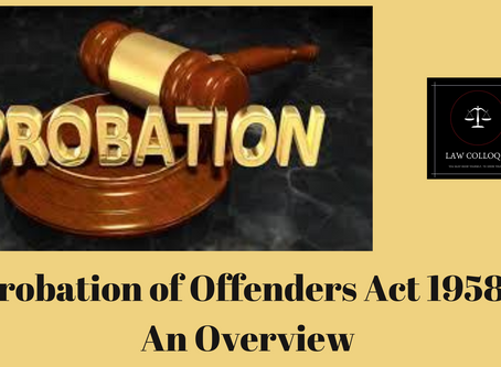 Probation of Offenders Act 1958: An Overview