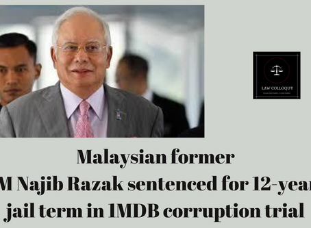 Malaysian former PM sentenced for 12-years jail term in 1MDB corruption trial