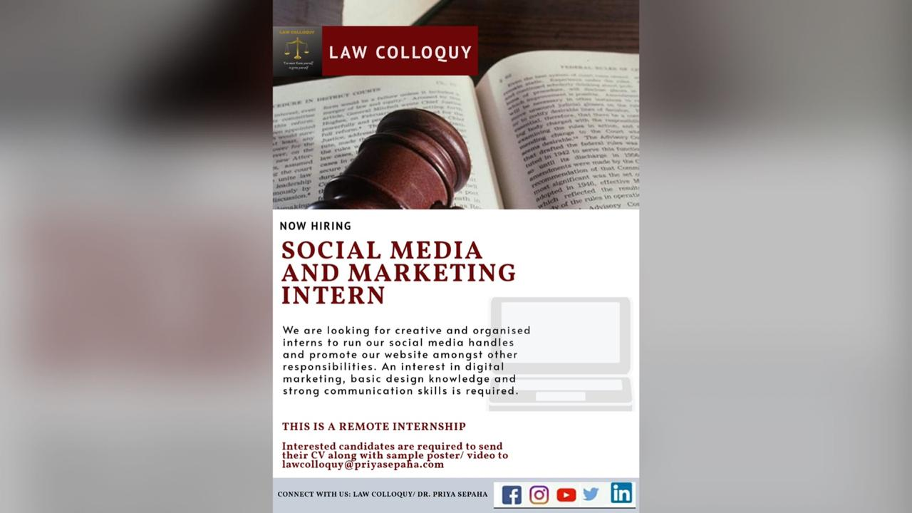 Social Media and Marketing Interns