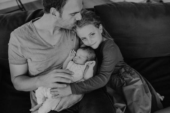 Papa und Kinder